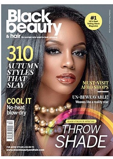 Desi on the cover of Black Beauty & Hair Magazine