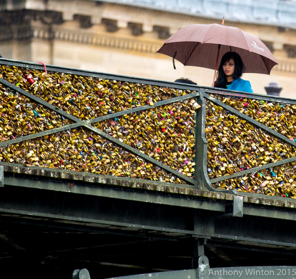 Woman On Bridge, Paris