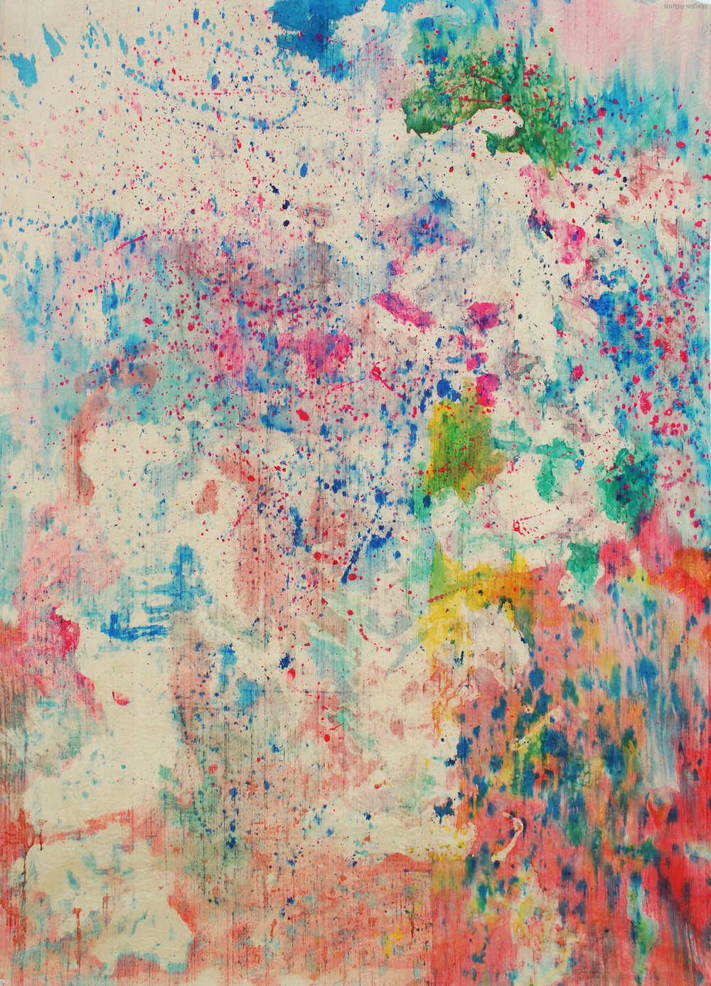 """Fetish, 36"""" x 52"""", painting on silk, 2011. SOLD"""