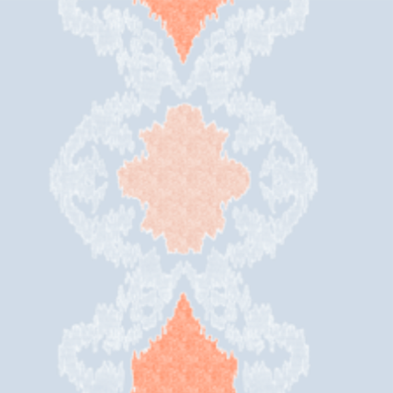 Ikat Medallion-Cloud and Peach