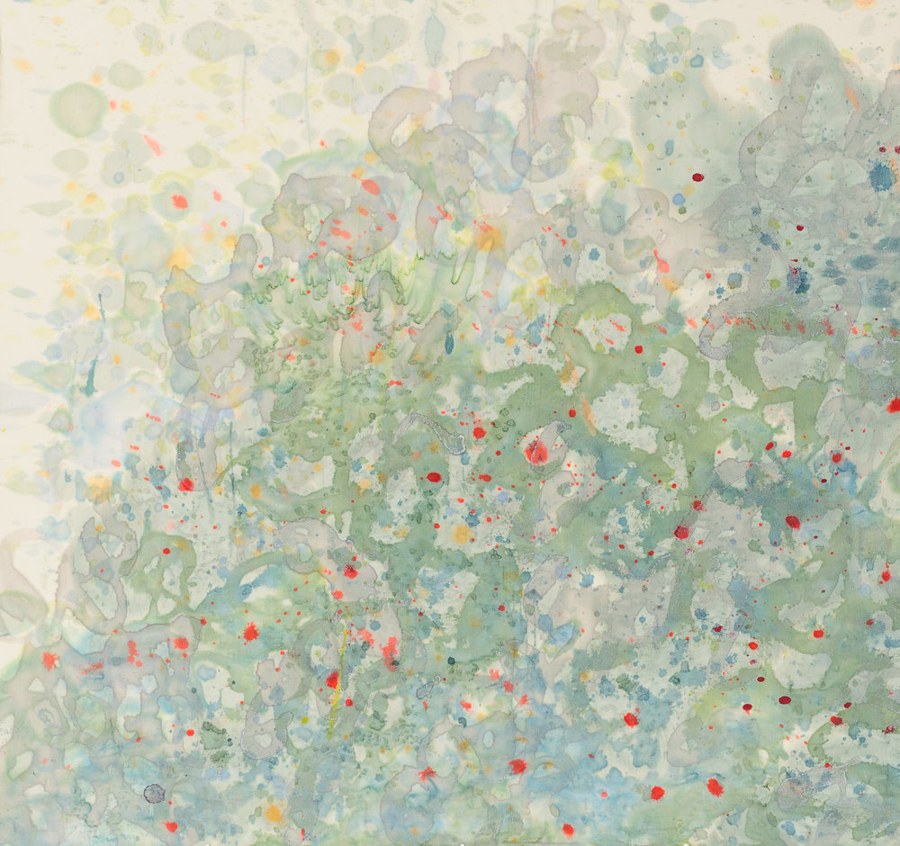 Petit Four V, 24X25, Painting on silk, 2016