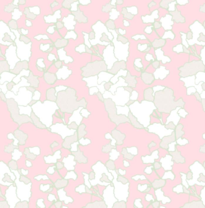 Floral Lines- Bubblegum