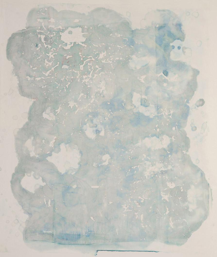 "Static Screen III, 42"" X 46"", silkscreen painting on paper, 2016"