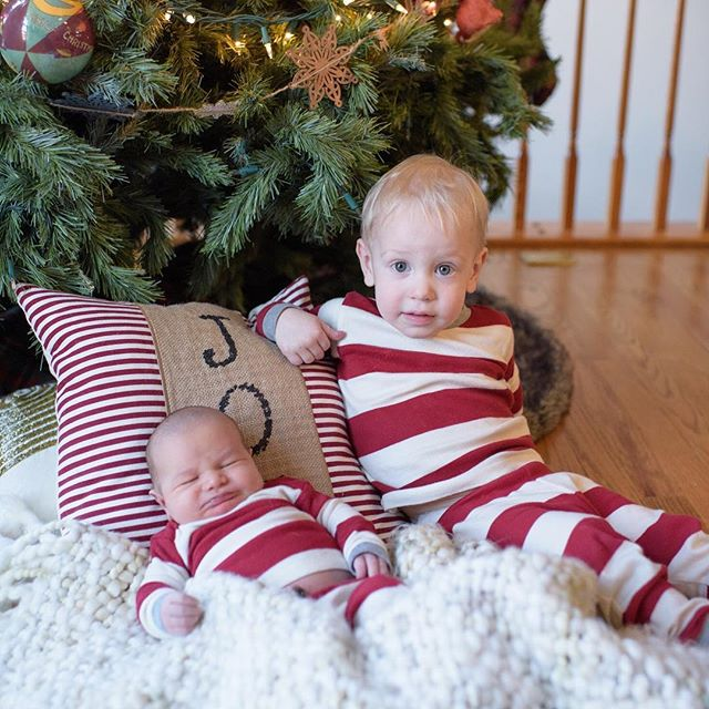 I mom failed yesterday and didn't get any nice photos of my boys 🤦🏻♀️ so we pretended it was Christmas this morning! I am so thankful for these two little blessings that have been gifted to us! #firstchristmas #fivedaysnew #twoundertwo