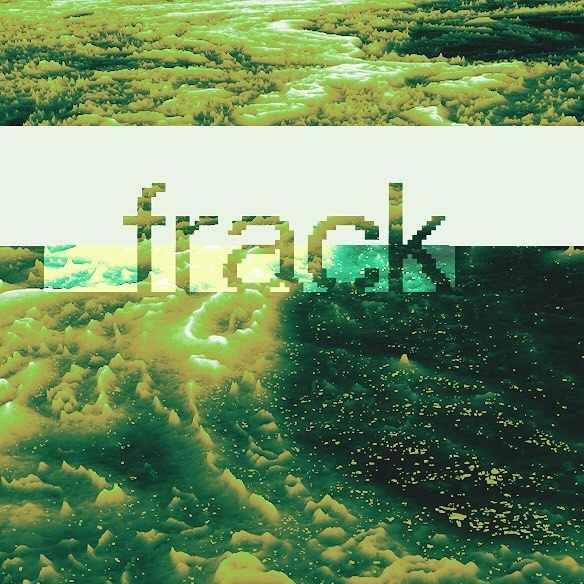 """frack"" album cover design. love making stuff like this. Send me all your friends who need album art.. annnnd go"