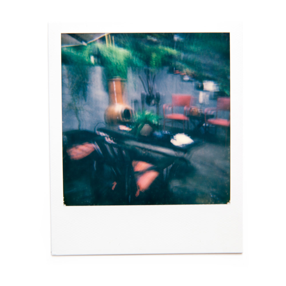 karina cruz, dark yard, 2016. polaroid film.