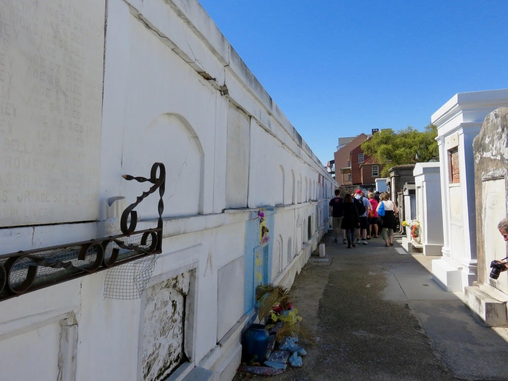 Wall vault at St. Louis Cemetery.