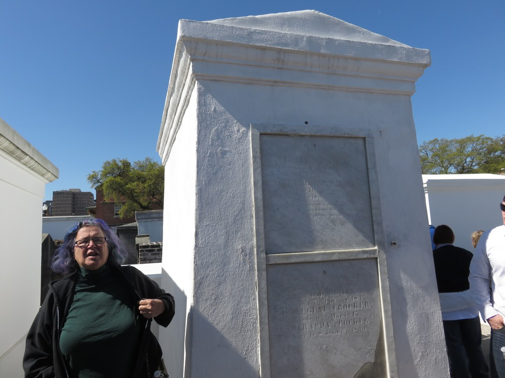 Tomb believed to hold the remains of Voodoo Priestess Marie Laveau, St. Louis Cemetery.