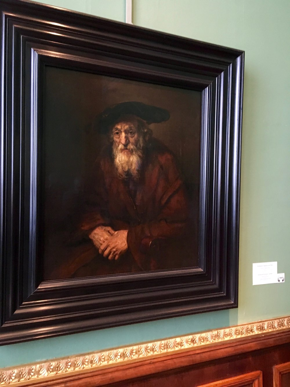 Rembrandt -  Portrait of an old Jew 1654