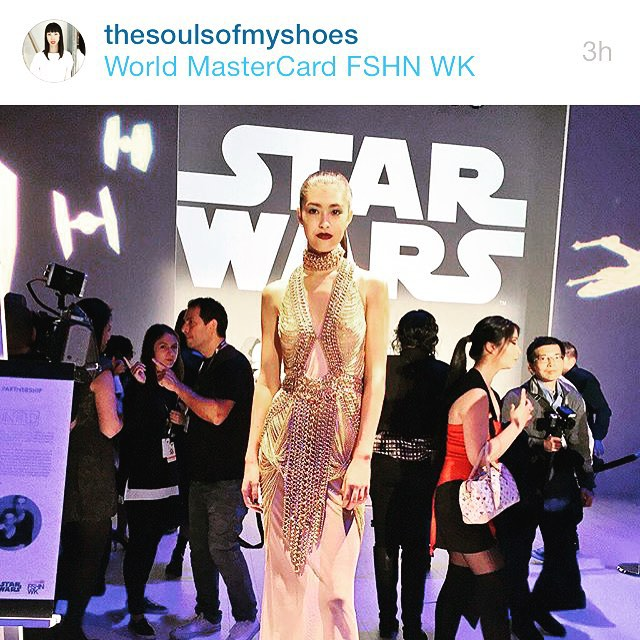 We go way back with #kimberlylyn. When we say way back… We're talking 90s RnB kinda back. We're proud to know someone who has developed such a strong role in the #fashion community of #Toronto. Her blog @thesoulsofmyshoes is interesting and very relevant. Here's a #repost from her attendance at the #starwars event at @wmcfashionweekz    Keep up the amazing work Kim. We see you!  #bloggersoftoronto #igersoftoronto #wmcfw #wmcfw15 #toronto  (at Toronto, Ontario)