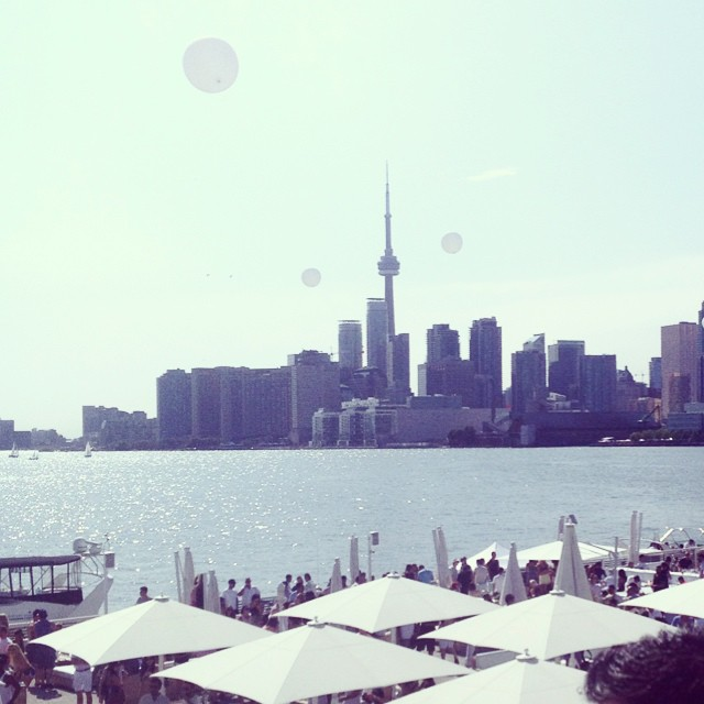 Happy #canadaday from #downtowntoliving. Taken from #cabanapoolbar. One of the best views of #toronto #skyline.