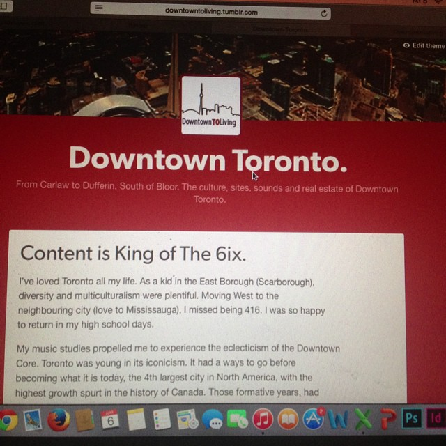 April 6, 2015… The day my inner hunger to evoke a content marketer takes it's first step. Follow, like, love and share! Thanks in advance! #downtownTOliving #eastGTAliving