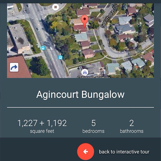 Thank you to everyone who has been giving us great feedback on our #interactive #property walkthroughs. Brought to you by our friends at #toursler.     This one is of our new listing in #agincourt at 26 Sonmore Drive. One of our favorite pockets of #scarborough.   The guides are mobile and tablet friendly and offer this #birdseye view page too.  Check them out at  www.ravisingh.ca     #marketing #property #realestate #toronto #torontorealestate #sarboroughrealestate #remax #remaxhallmark #technology #6ix #torontoigers #torontodbloggers