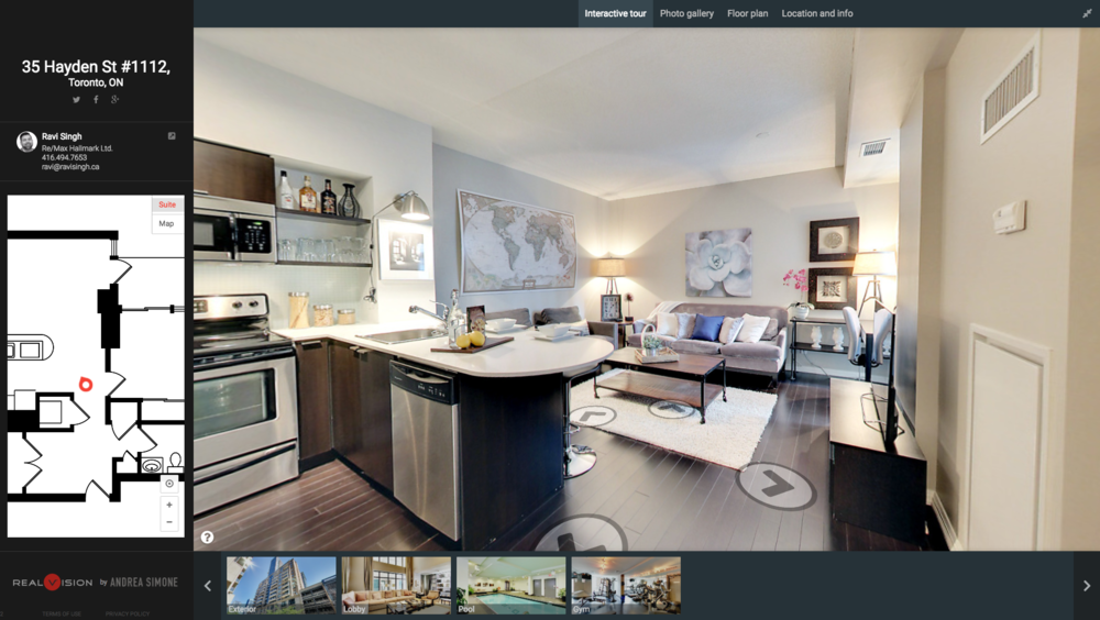Interactive Virtual Tour Link - 35 Hayden Street #1112