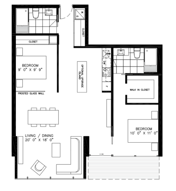 Floorplan of 38 Stewart Street 303