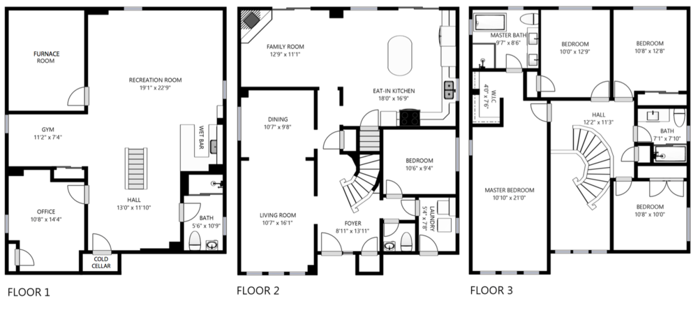 Floorplan of 17 Caldbeck Avenue