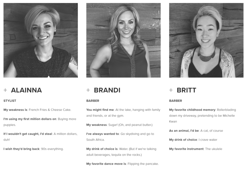 Our Team Examples