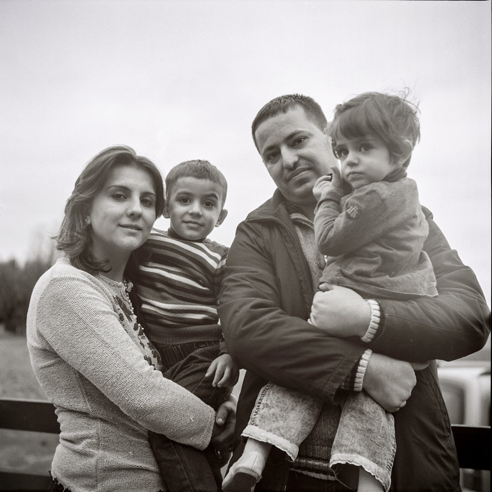 Mariam and her family. Czechia, February 2016.