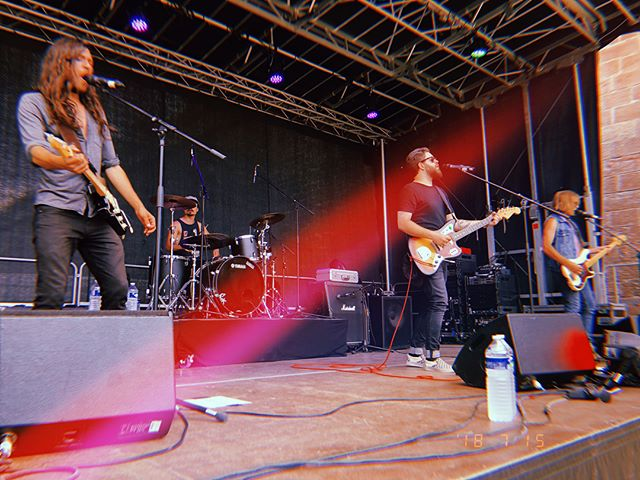 3 beautifull shows in the Czech Republic (Usti Nad Labem//Tisa) and France (Festival Planète 9 Brisach) !! . .  A huge thanks to everyone for the warm welcome 🤘 . .  Hitting the stage in Liverpool 🇬🇧 tonight @ The Jacaranda Club with our friends from @flatworldtheory and @thunderthegiants !! . .  Playing on the same stage as The Beatles... pretty sweet 👌 . . ❤️ . #noyze #euro #tour #uk #liverpool #rockandroll #jacaranda #club #livingthedream
