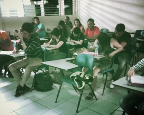 La M-5 de la UCA. Mis estudiantes de Creación de Empresas el día del ejercicio.