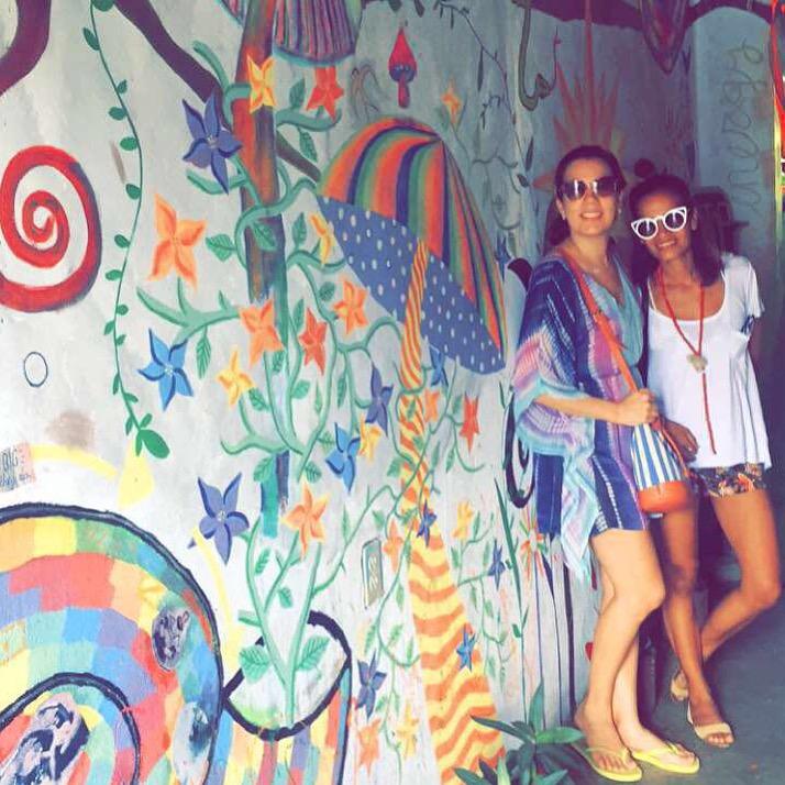 Yaosca Jimenez y yo, en Simon Says, San Juan del Sur.
