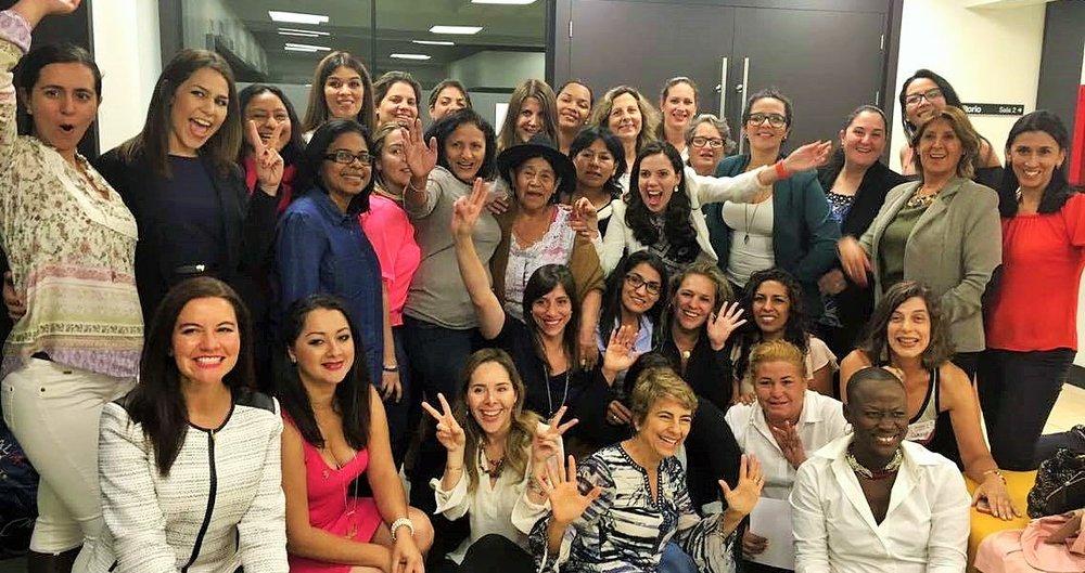 45 mujeres emprendedoras de todo el continente.