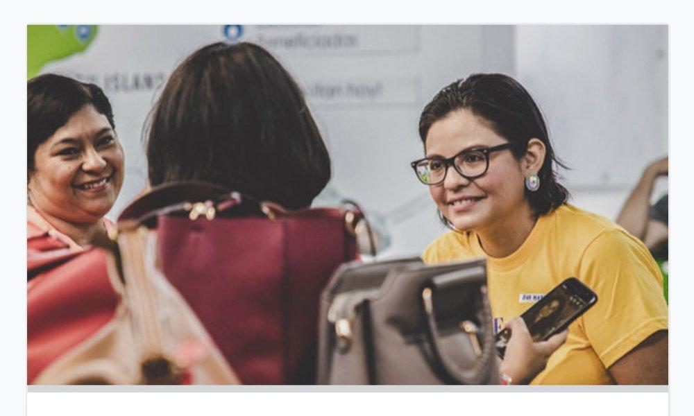 Ana Mayela con emprendedores 360.