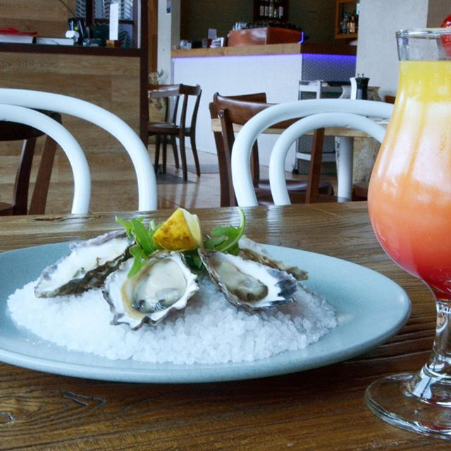 Yes we are Open: It's a Good Friday with oysters and cocktails 🍹  #mediterraneasydney