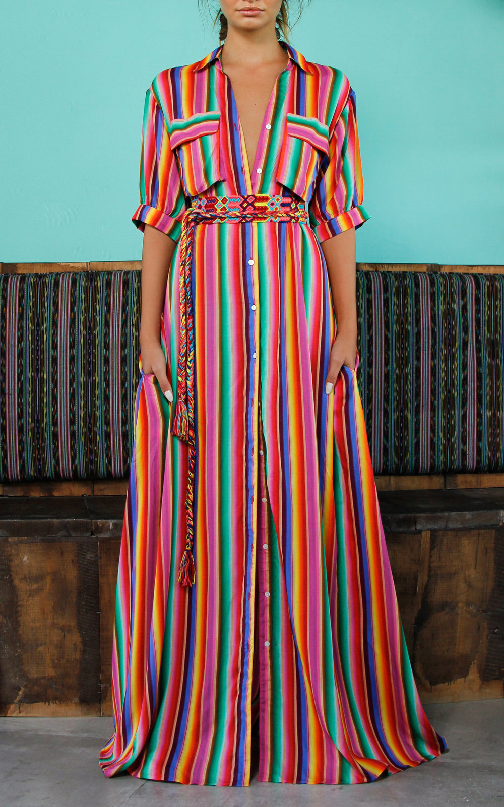 All Things Mochi Isabella Rainbow Dress
