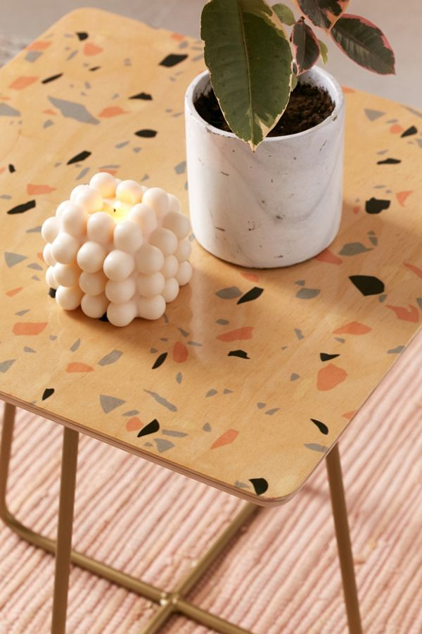 Urban Outfitters Home Emanuela Caratoni For Deny Sweet Terrazzo Texture Side Table