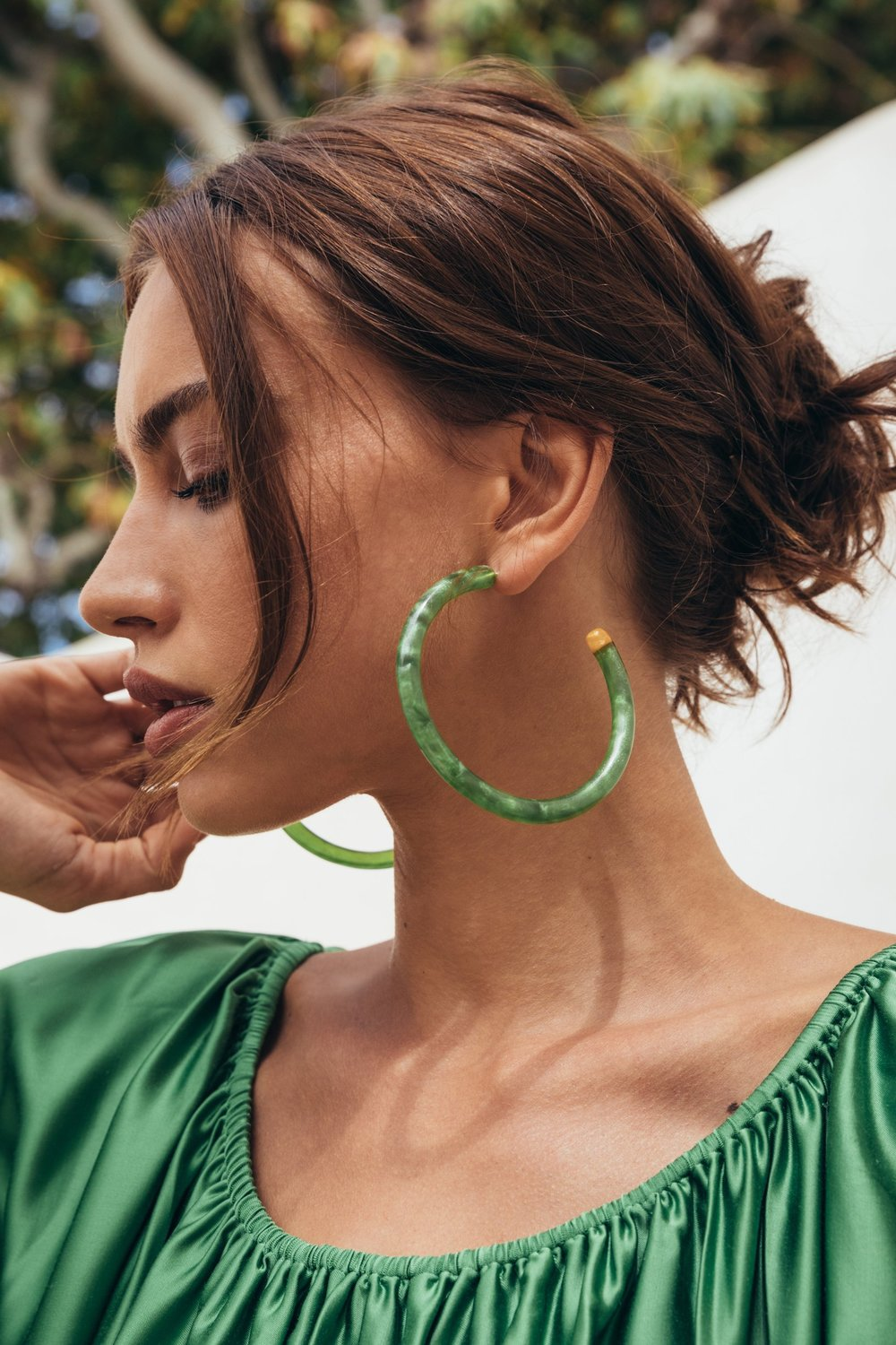 Cult Gaia Geneva Earring — Malachite