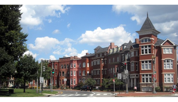 Historic townhouse neighborhoods, like this one in Washington, DC, are some of the most desirable walkable neighborhoods across the country-- but building them in Eugene is currently prohibited.