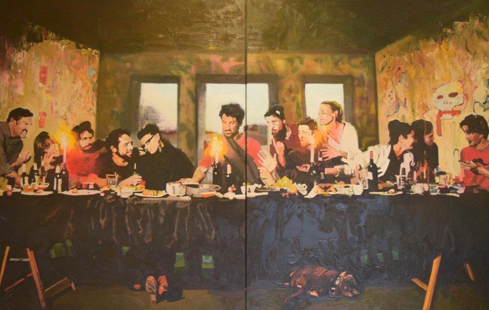 The Last Supper (After Leonardo DaVinci) , Kate Stevens, oil on canvas