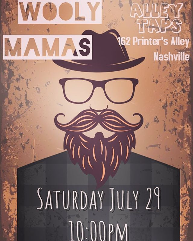 Come hang with us next Saturday night in Printers Alley !