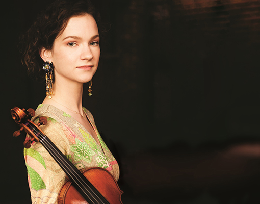 Hilary Hahn violin  The Poulenc Trio premiered two new works in Russia with violinist Hilary Hahn