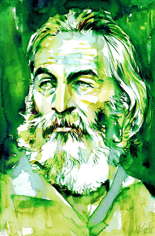 Walt Whitman. Watercolor by Fabrizio Cassetta