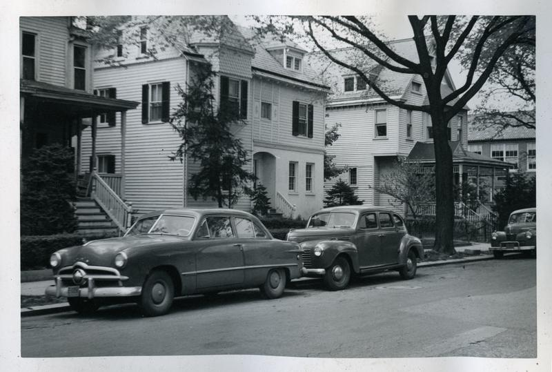 Houses on Mt. Pleasant Street NW near Newton Street, ca. 1949