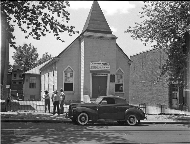 First Seventh Day Adventist Church in the 600 block of 8th Street NE, ca. 1949