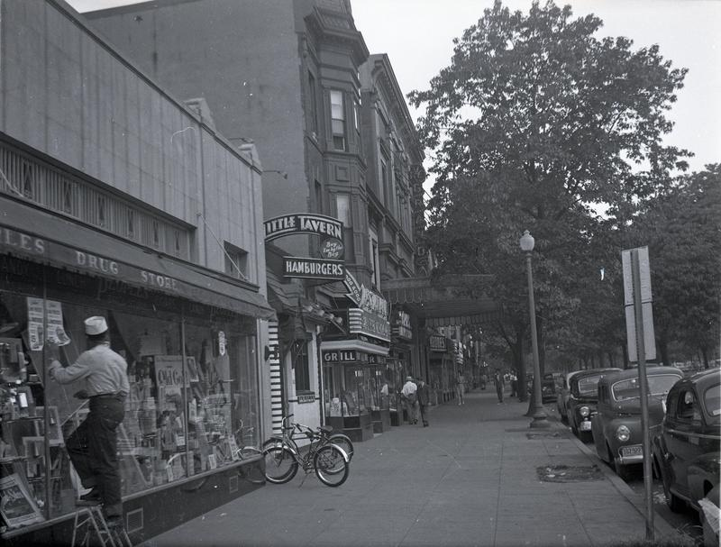 Commercial buildings on the south side of the 600 block of Pennsylvania Avenue SE, ca. 1949