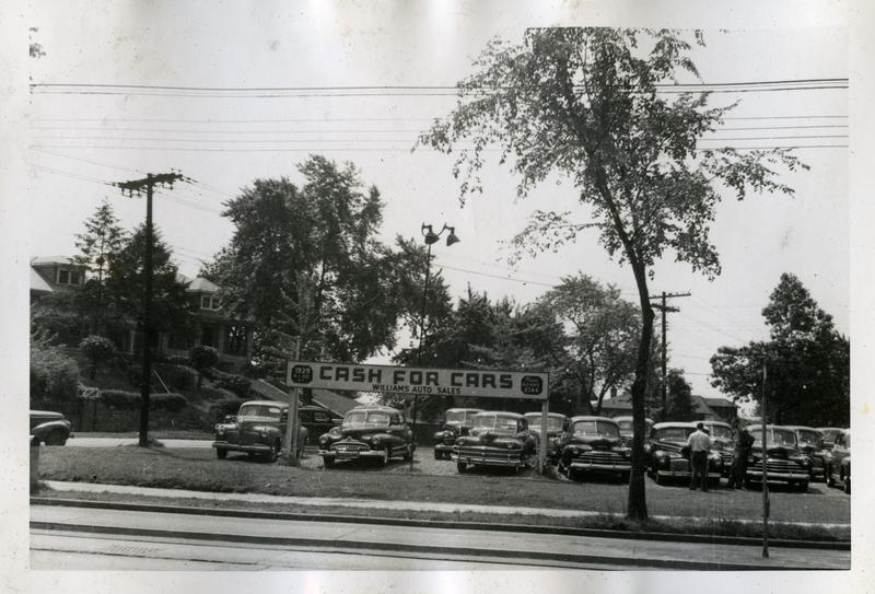 Used Car lot, 20th Street NE at Rhode Island Avenue, ca. 1948