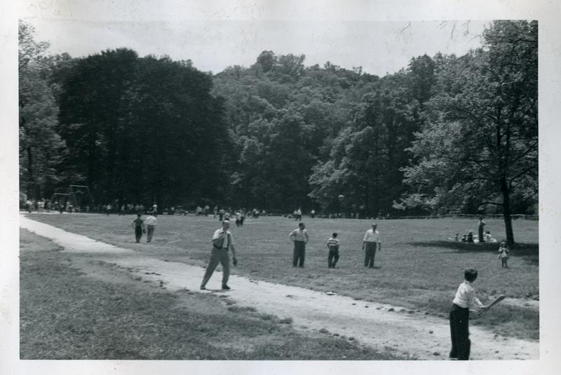 Picnic grounds in Rock Creek Park south of Tilden Street, ca 1949