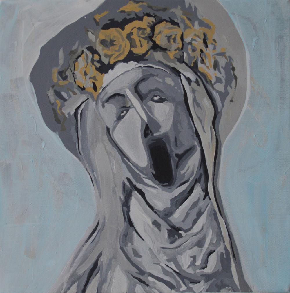 NUTCRACKER   2014 Acrylic on canvas 12 x 12 in 30.48 x 30.4 cm