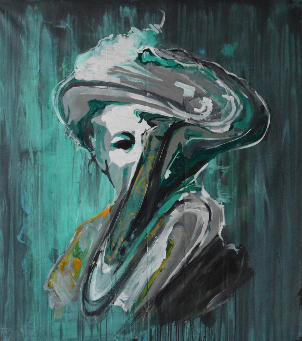 BOLDO   2013 Acrylic on canvas 56 x 50 in 142.2 x 127 cm