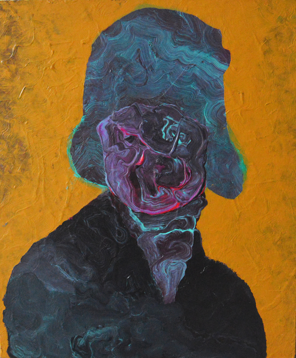 LADY IN CLOCHE   2013 Acrylic on canvas 24 x 18 in 60.9 x 45.7 cm