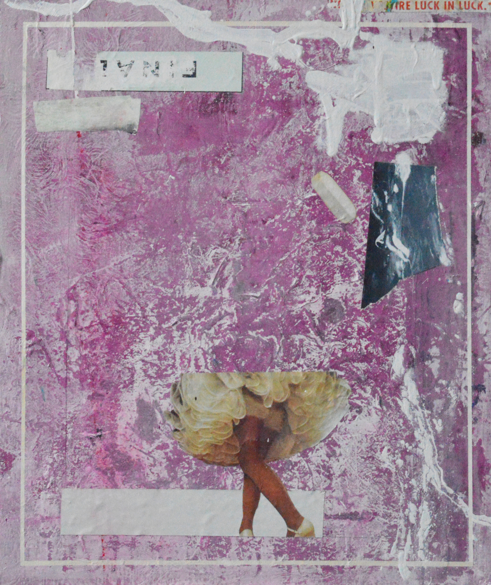 ARRANGEMENT 01 / FINALE   2013 Acrylic, collage and tape on board 24 x 18 in 61 x 46 cm