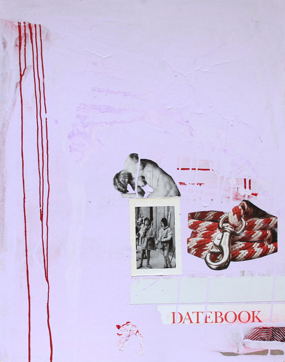 ARRANGEMENT 05 / DATEBOOK   2014 Acrylic, collage, aluminium and tape on paper 28 x 22 in 71 x 56 cm