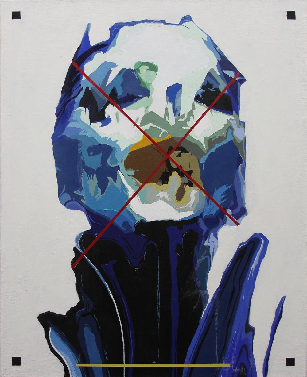 EX   2015 Acrylic on canvas 30 x 24 in 76.2 x 60.9 cm