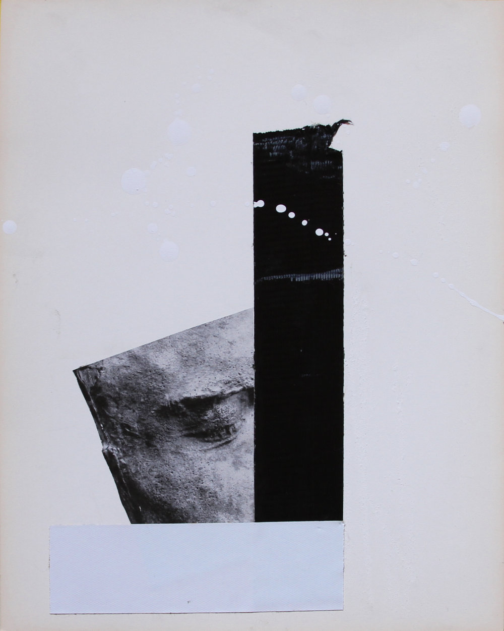 SLEEPYHEAD 02   2016 Collage and tape on paper 13 1/2 x 11 in 34 x 28 cm