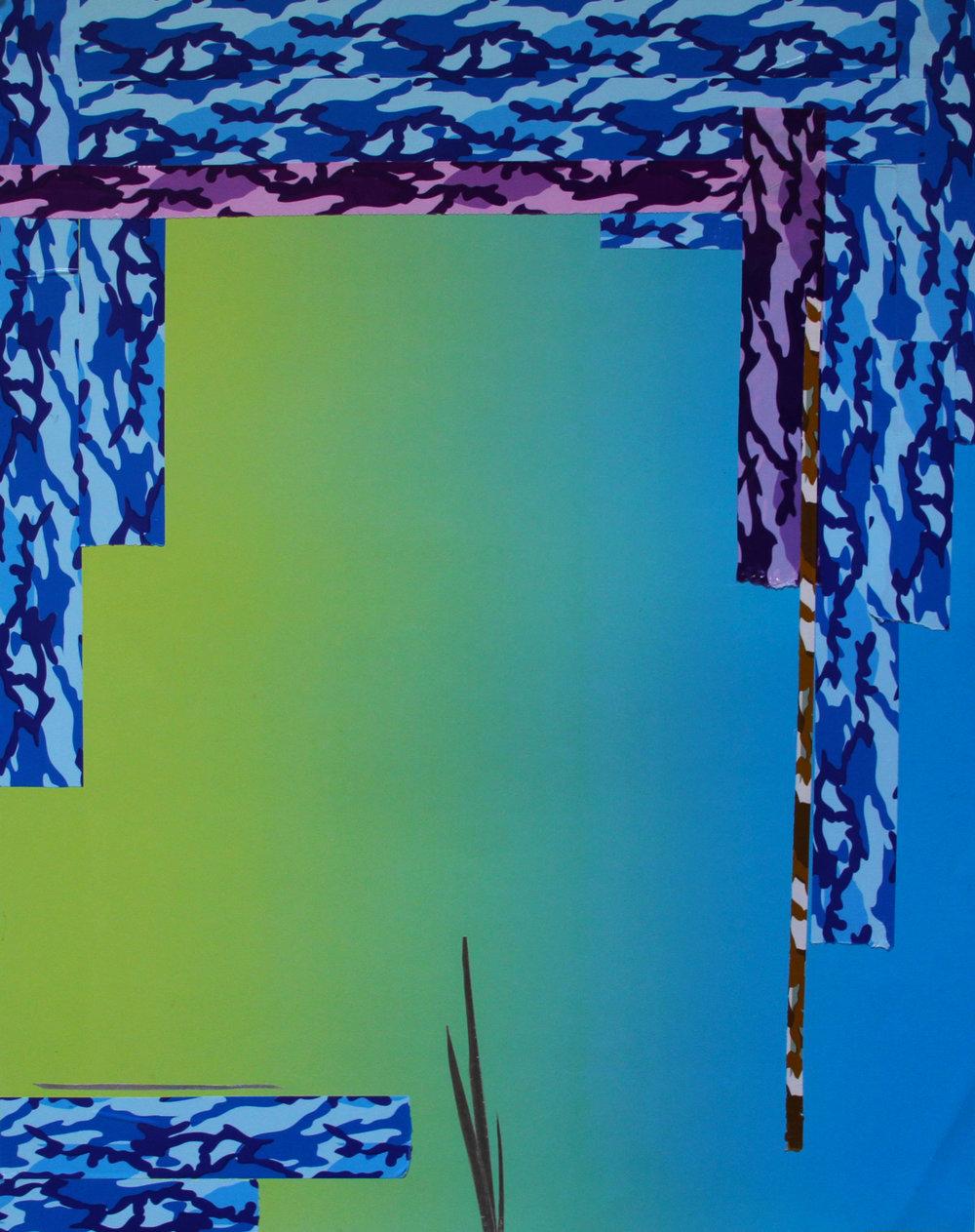 MANEUVER 02   2016 Tape on paper 28 x 22 in 71 x 56 cm