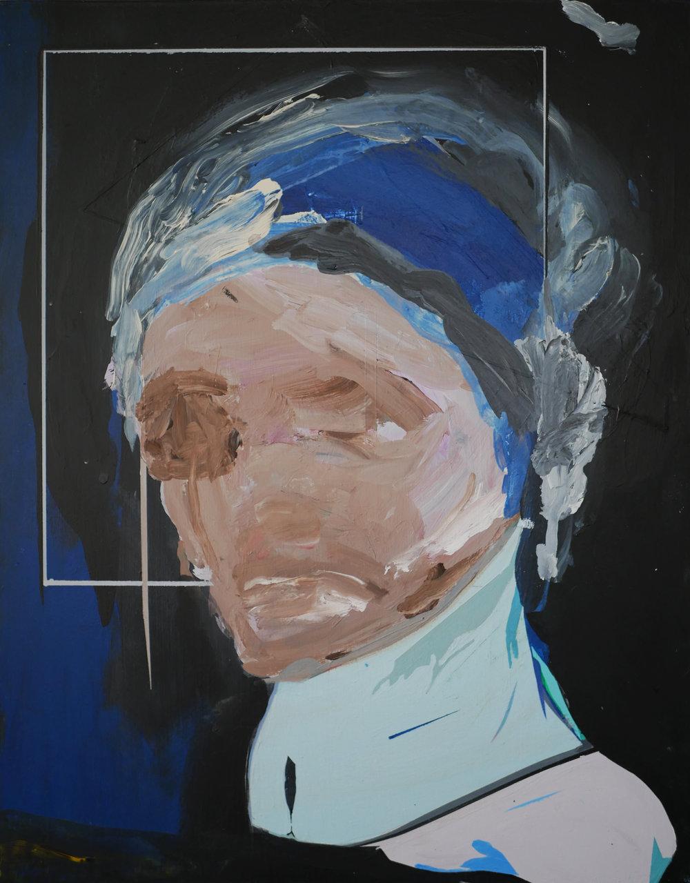 PHANTOM STUDY    2017 Acrylic on wood panel 14 x 11 in 35.5 x 27.9 cm